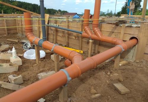 Монтаж канализации в частном доме в Одинцово