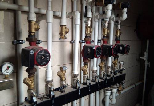 Монтаж коллектора отопления в Одинцово