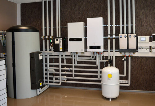 Монтаж комбинированного отопления в частном доме в Одинцово