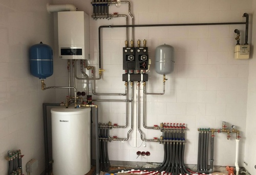 Монтаж отопления в коттедже в Одинцово