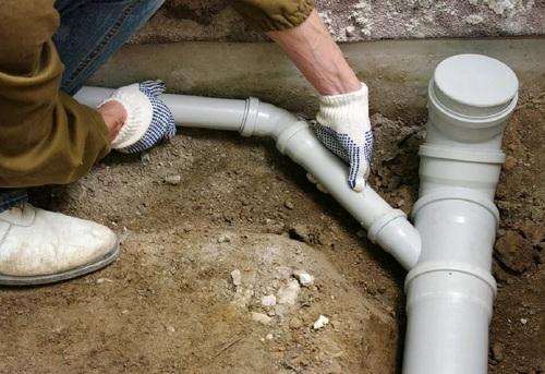 Монтаж труб канализации в частном доме в Одинцово