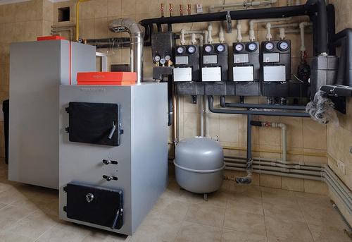 Монтаж твердотопливного отопления в частном доме в Одинцово