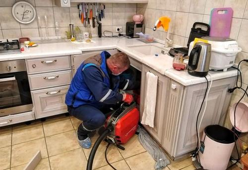 Прочистка канализации на кухне в Одинцово