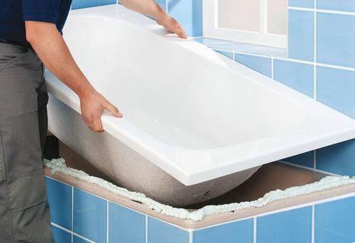 Установка акриловой ванны в Одинцово