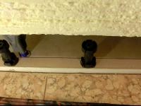 Установка угловой ванны