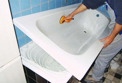 Замена акриловой ванны в Одинцово