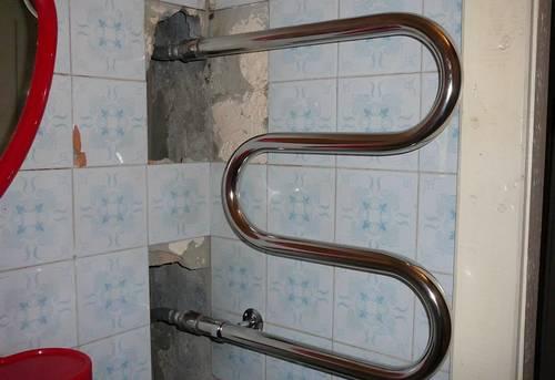 Замена контурного полотенцесушителя в Одинцово