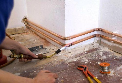 Замена отопительных труб в частном доме в Одинцово