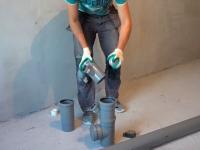 Замена чугунного стояка канализации