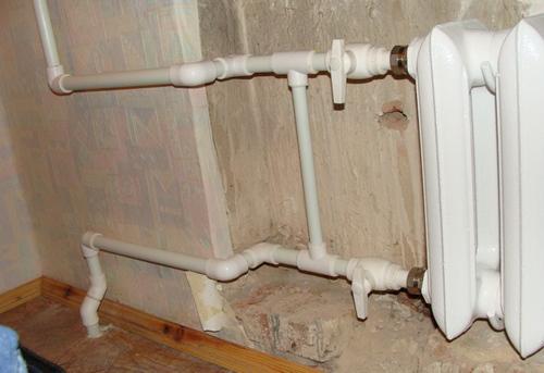 Замена стояка отопления на полипропилене в Одинцово